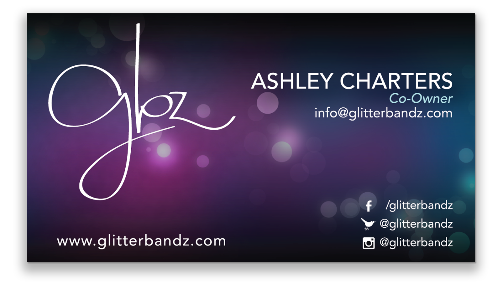 glitterbandz business card 2